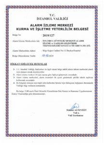 istanbul güvenlik merkezi yeterlilik belgesi